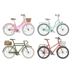 configurations of city street bicycles vector image vector image