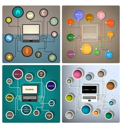 Creative web design templates vector image