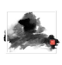 dark banner black spots on the wet ink vector image