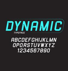 Dynamic bold italic font design alphabet typeface vector