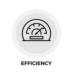 Efficiency Line Icon vector image