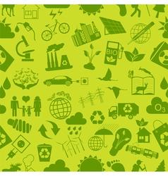Environment ecology seamless pattern environmental vector