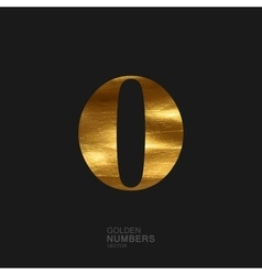 Golden number 0 vector image