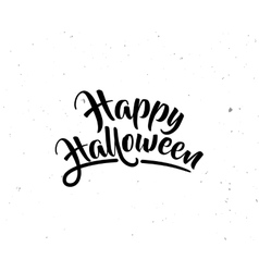 Halloween greeting card poster with lettering vector image vector image