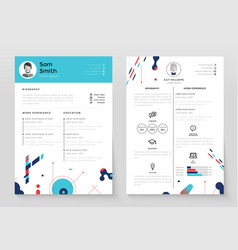 personal cv- set of modern template vector image vector image
