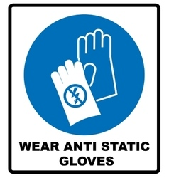 Safety sign hand protection must be worn vector
