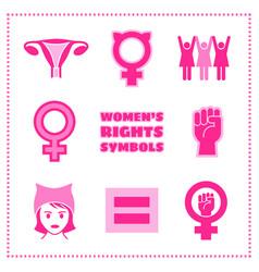Set of feminist symbols vector