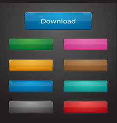 set of rectangle buttons vector image vector image
