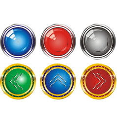 set of web buttons with the index arrows vector image vector image