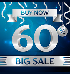 Silver big sale buy now sixty percent for discount vector