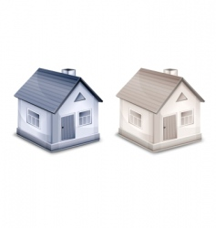 two small village houses vector image vector image