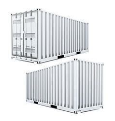white cargo container 3d classic cargo vector image vector image