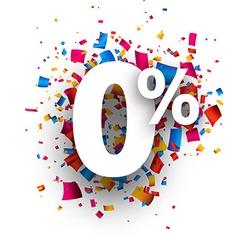 Zero percent 0 sign vector