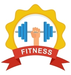 fitness logo color vector image