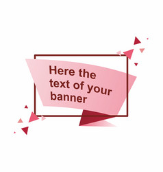 abstract frame banner template vector image