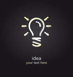 Bulb light idea vector