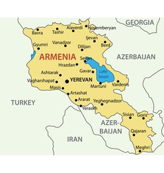Republic of armenia - map vector