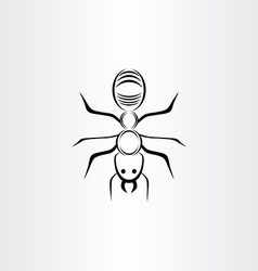 Stylized ant symbol design vector