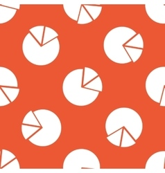 Orange diagram pattern vector