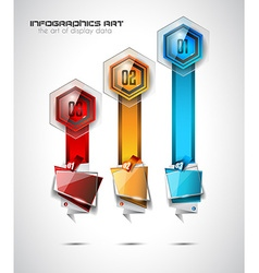 Infographic abstract template with 4 choices glass vector