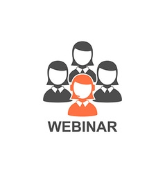 Flat design webinar icon online education vector