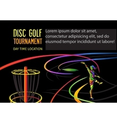 Disc golf or frolf sports banner vector