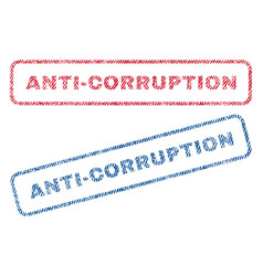anti-corruption textile stamps vector image vector image