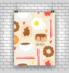 Breakfast concept brunch vector