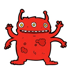 Comic cartoon alien monster vector