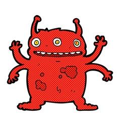 Comic cartoon alien monster vector