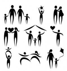 family symbols vector image vector image