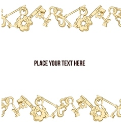 frame with keys vector image