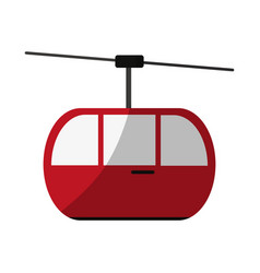 funicular or cable car icon image vector image