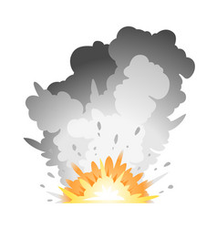 ground bomb explosion vector image