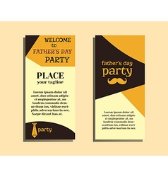 Happy Fathers Day flyer template with mustache and vector image