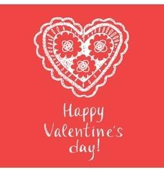 Happy valentines day typography openwork vector