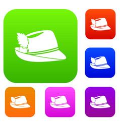irish hat set collection vector image vector image