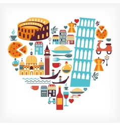 Italy love vector image