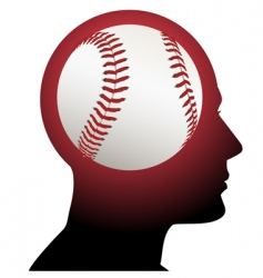 Man with baseball brain vector