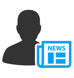 newsmaker newspaper flat icon vector image