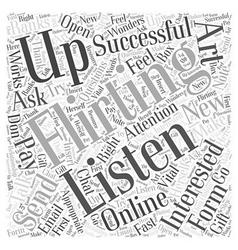 Online flirting word cloud concept vector