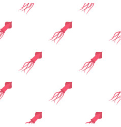 Pink squid pattern seamless vector