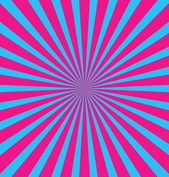 popular blue and pink ray background vintage vector image vector image