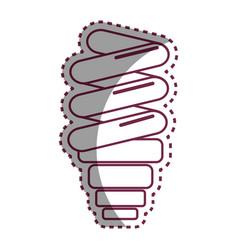 Sticker save bulb energy icon vector