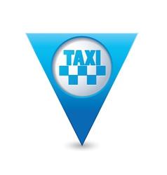 Taxi icon map pointer3 blue vector