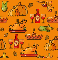 thanksgiving holiday texture seamless pattern vector image