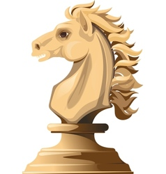 white chess horse vector image