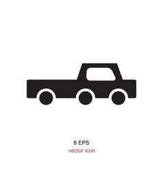 Black and white car icon vector