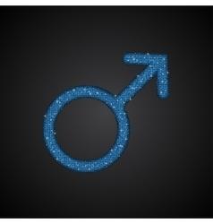 Gender men blue sequins icon vector