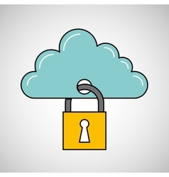 Security data concept cloud information icon vector